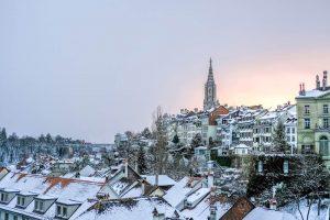 Stadt Bern im Winter, was den Umzug ungemütlicher macht.